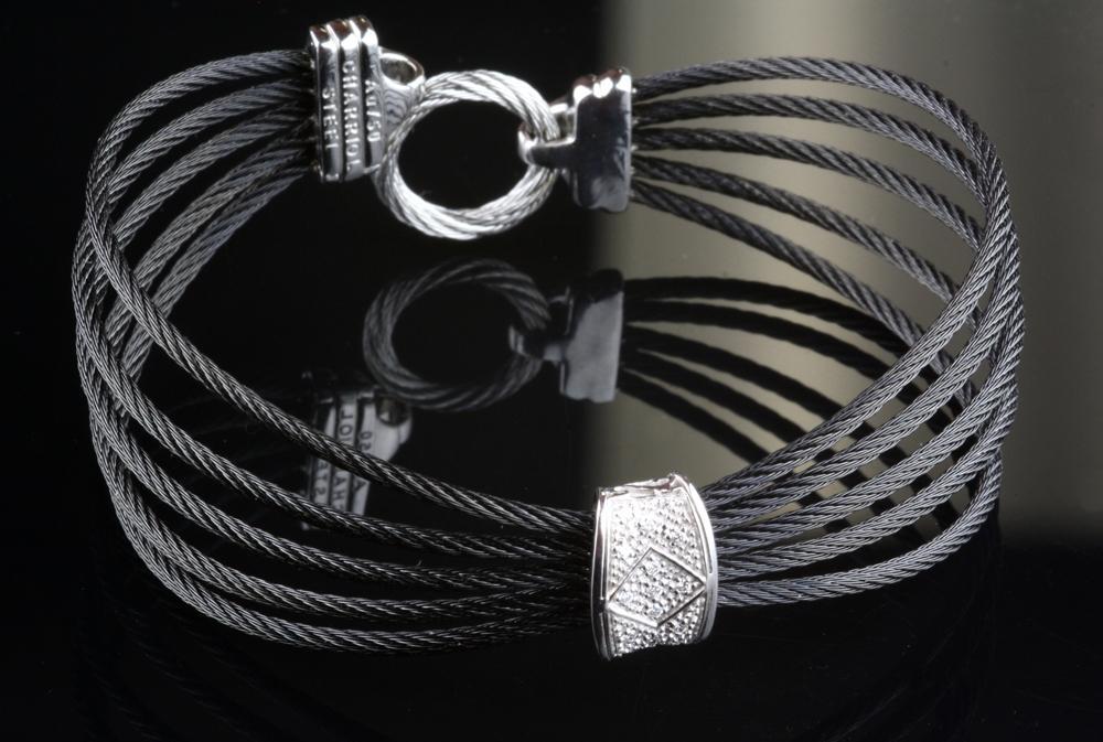 Charriol Contemporary Diamond Bangle Bracelet