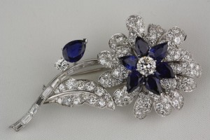 Diamond-Sapphire-Tiffany-Brooch