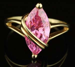 Hot Pink Topaz Ring