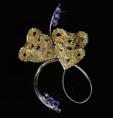 Sapphire-Brooch