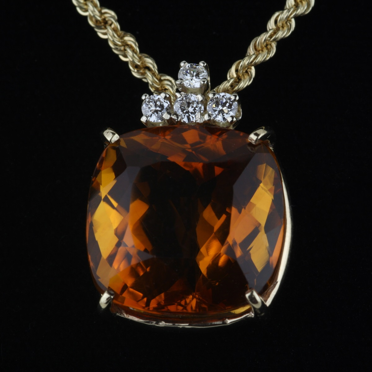 Pre owned madeira citrine pendant aloadofball Image collections
