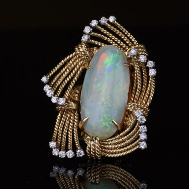 Pre-Owned Austrian Opal & Diamond Brooch