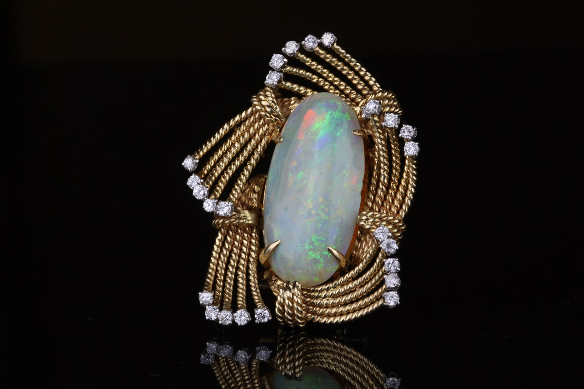 vintage brooch of colour nc shot pendant natural opal kaleidoscope products