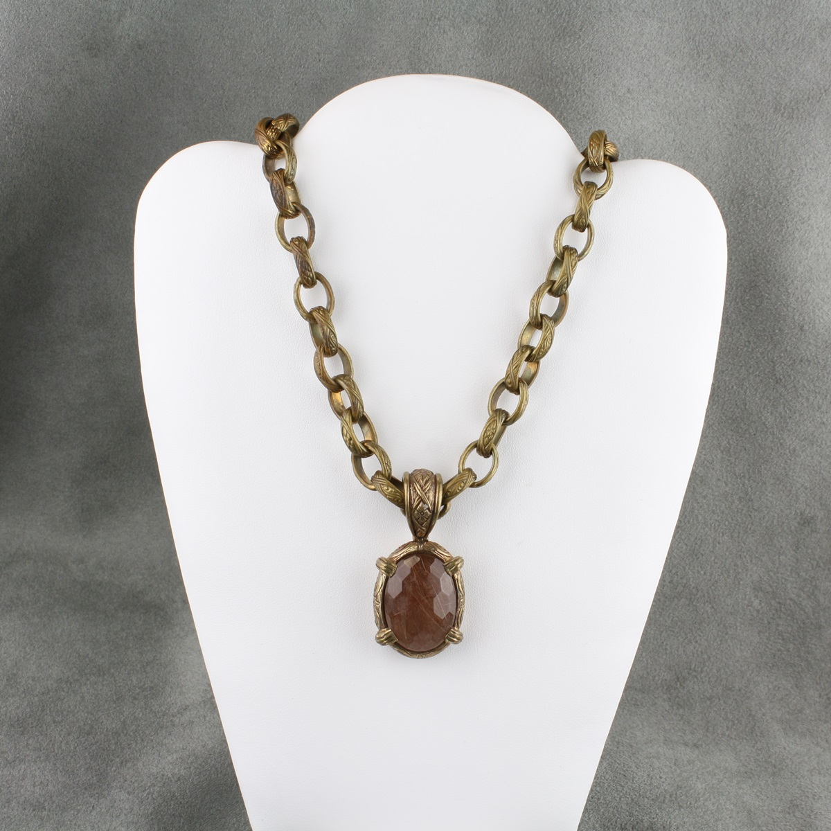 pre owned stephen dweck bronze necklace and pendant