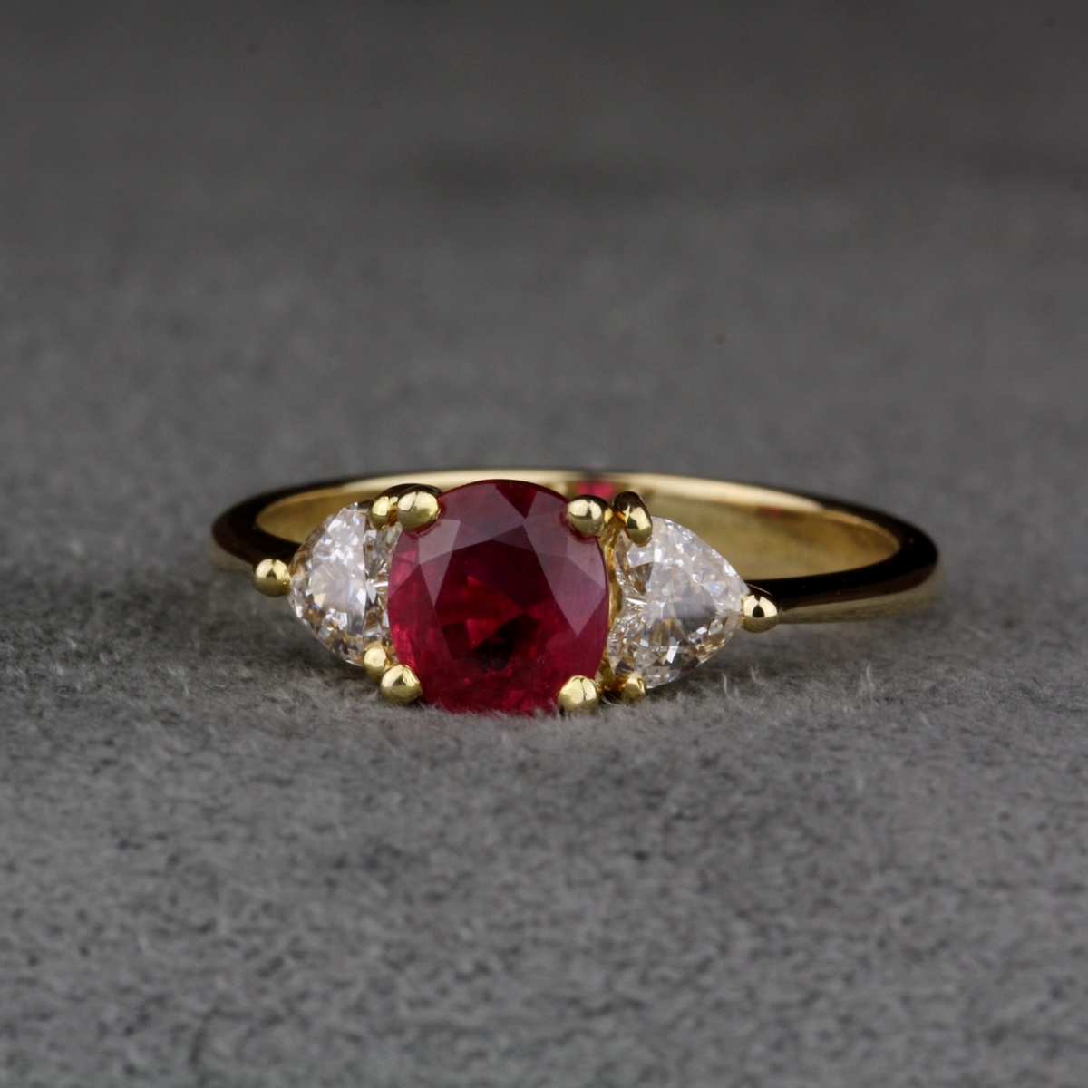 Ruby Pearl Silver Gold Ring