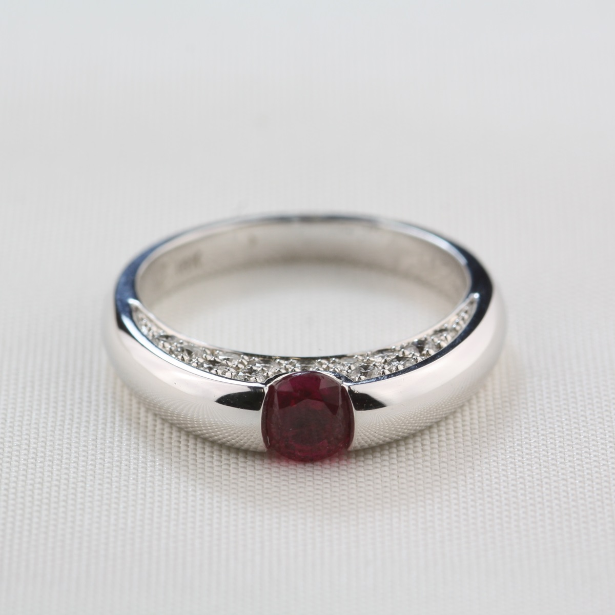Pre-Owned Modern Ruby and Diamond Ring