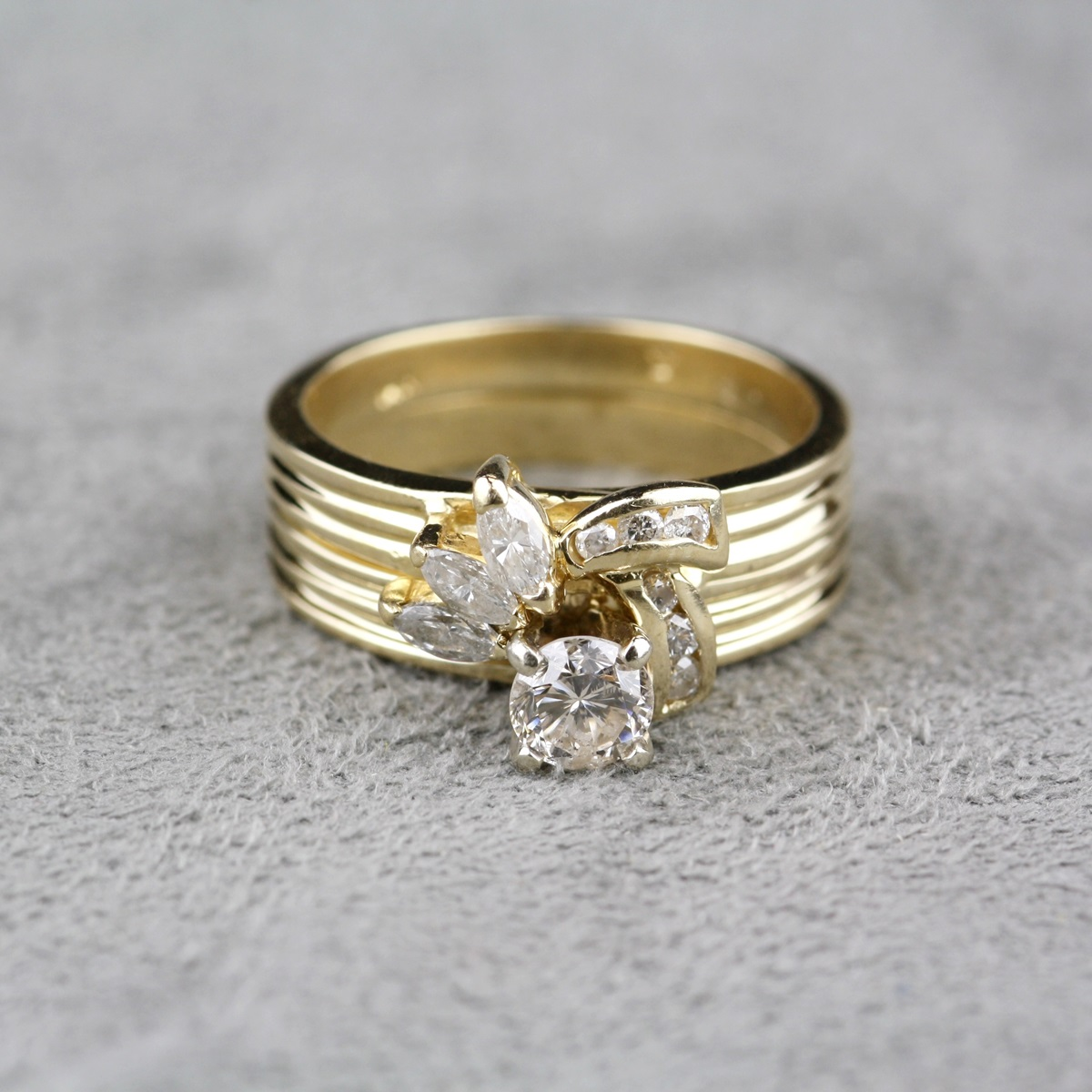 Pre Owned Diamond Ring Wedding Set