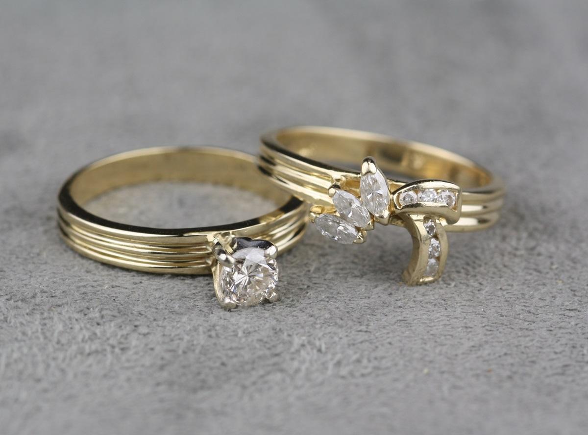 Pre Owned Diamond Ring Wedding Set