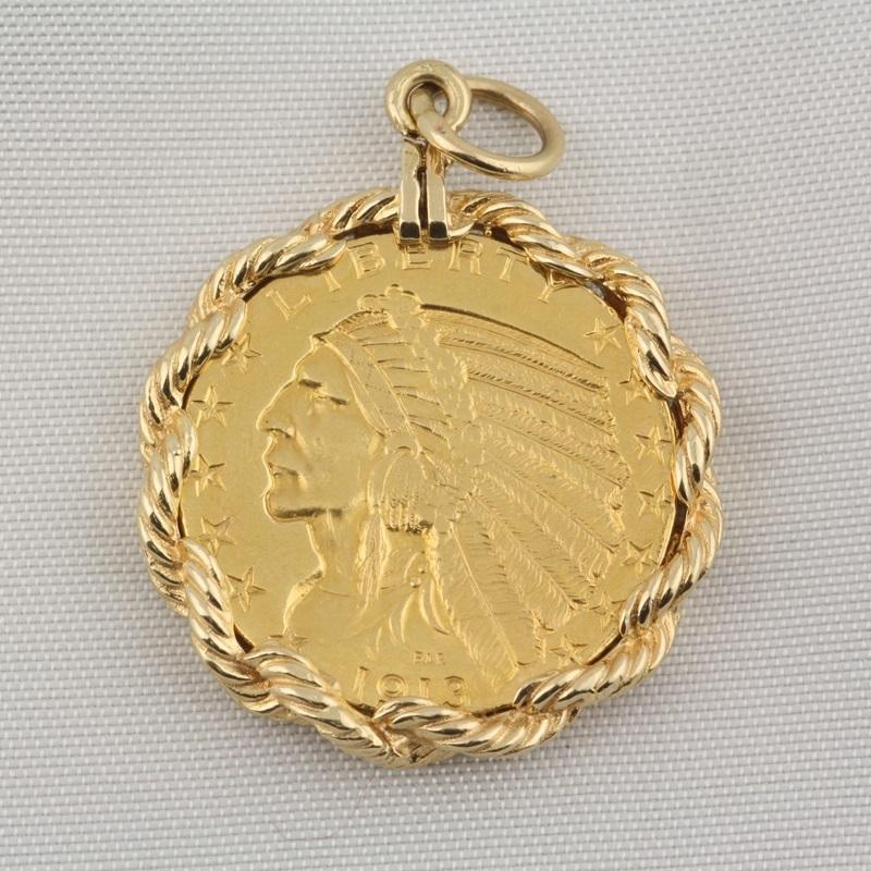 indian liberty gold coin pendant