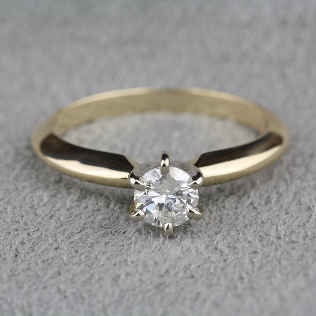 ring yellow solitaire gold engagement in a carat diamond white with