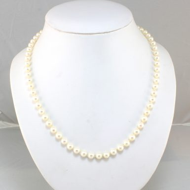 pre-owned-14kwg-cultured-pearl-18in-necklace