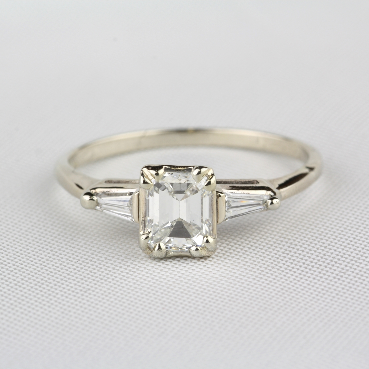 Pre-Owned-Emerald-Cut-Diamond-Engagement-Ring