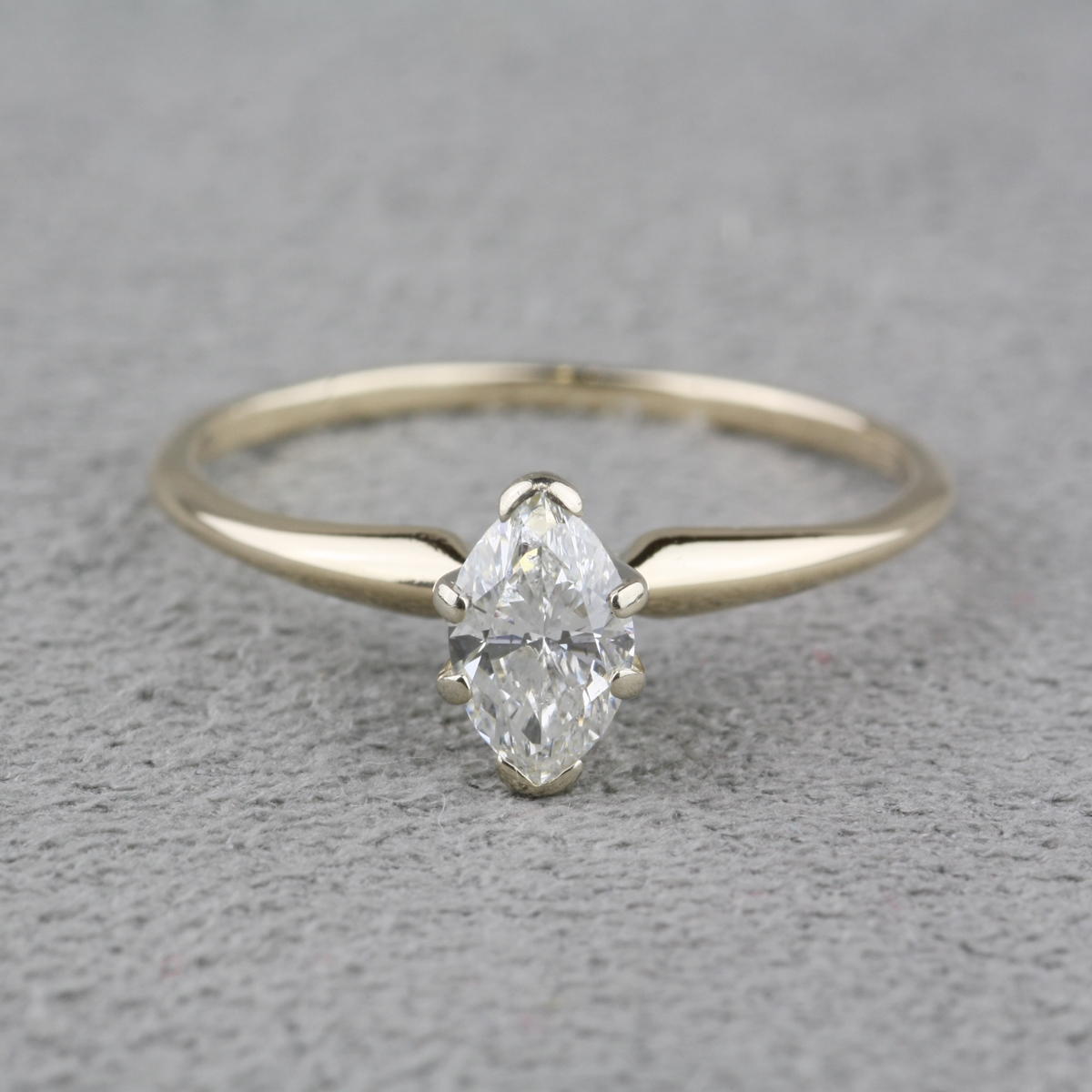 Pre Owned Marquise Diamond Engagement Ring