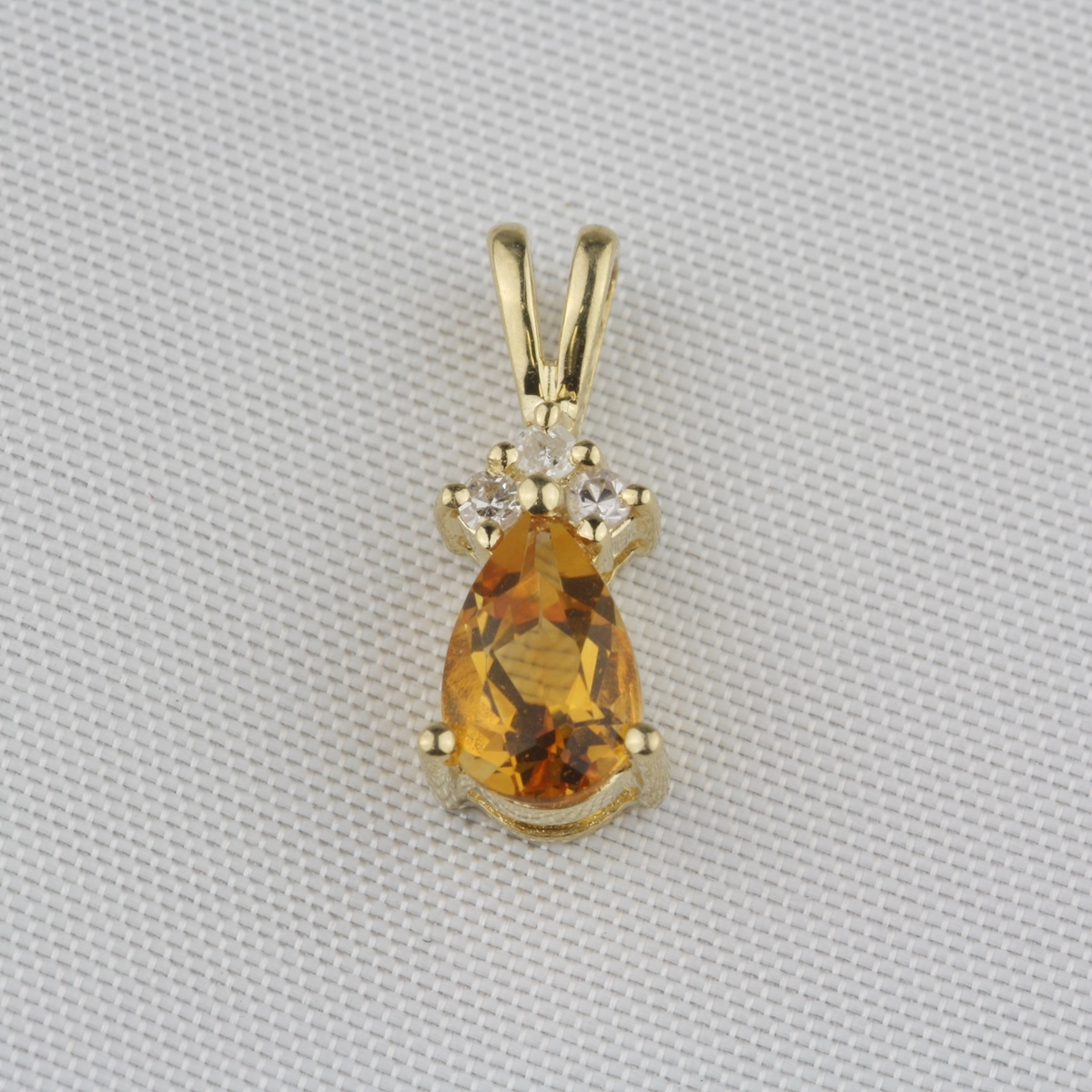 Pre owned citrine diamond pendant pre owned citrine diamond pendant aloadofball Image collections