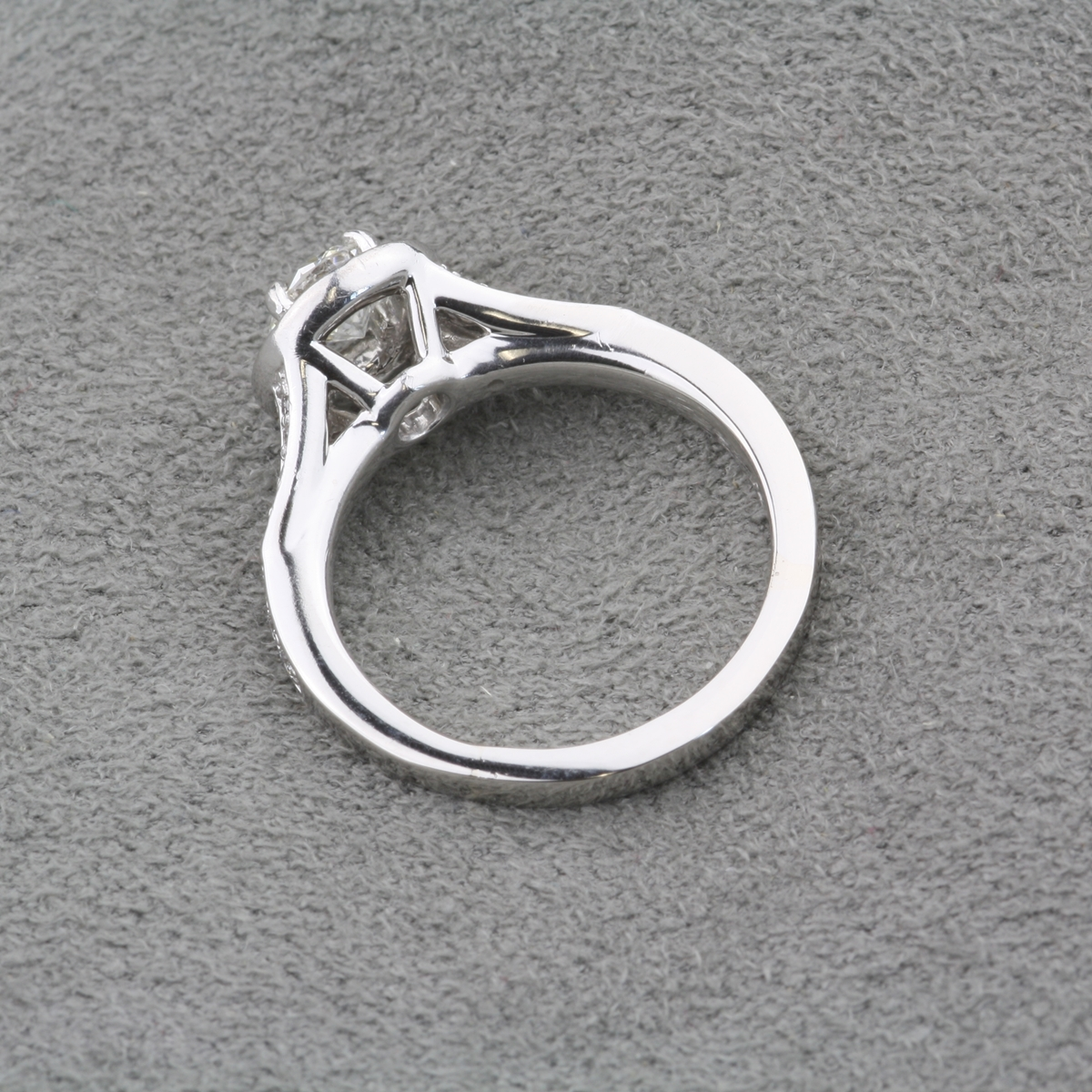 Pre Owned Diamond Halo Engagement Ring