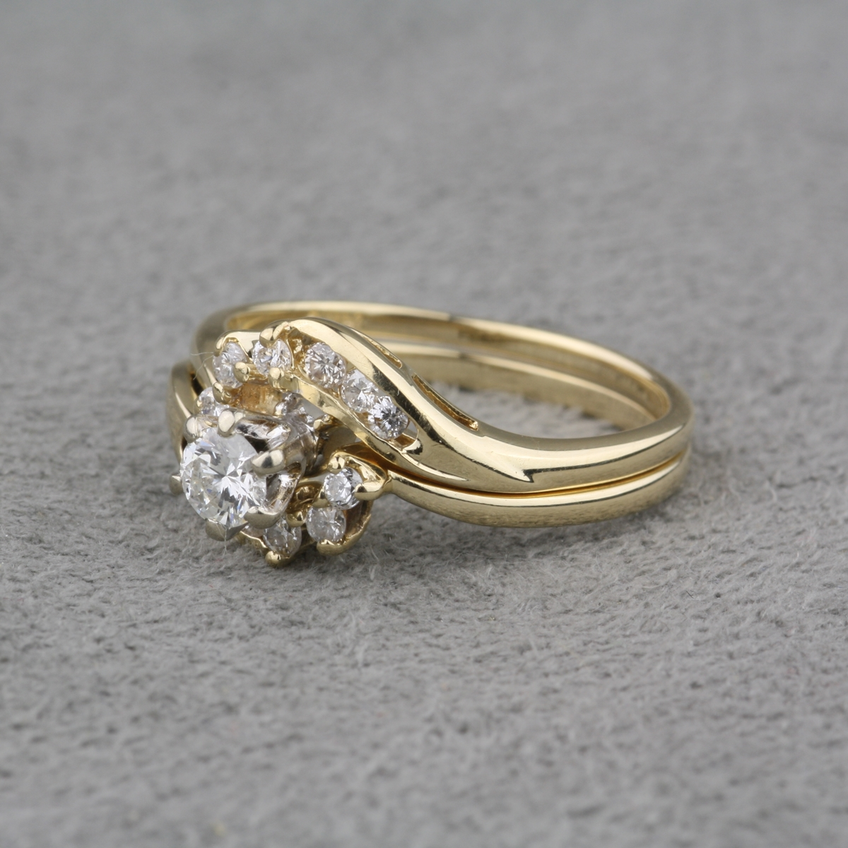 Pre-Owned Diamond Engagement Ring and Diamond Wrap