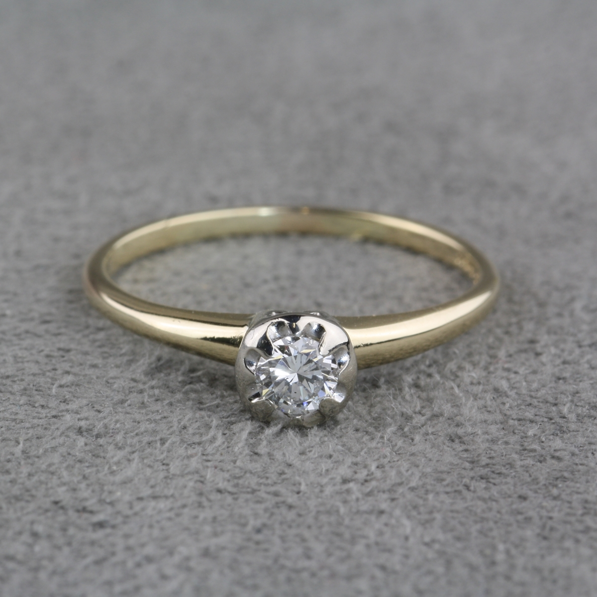Vintage Sterling Diamond Engagement Ring