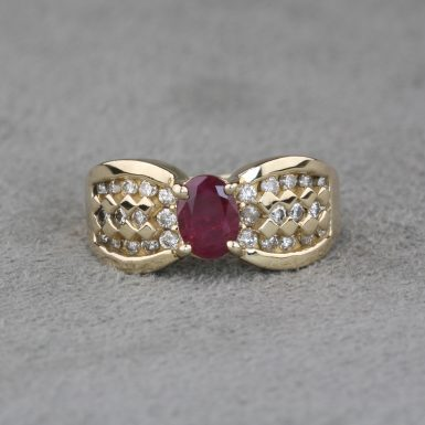 pre-owned-synthetic-ruby-and-diamond-ring