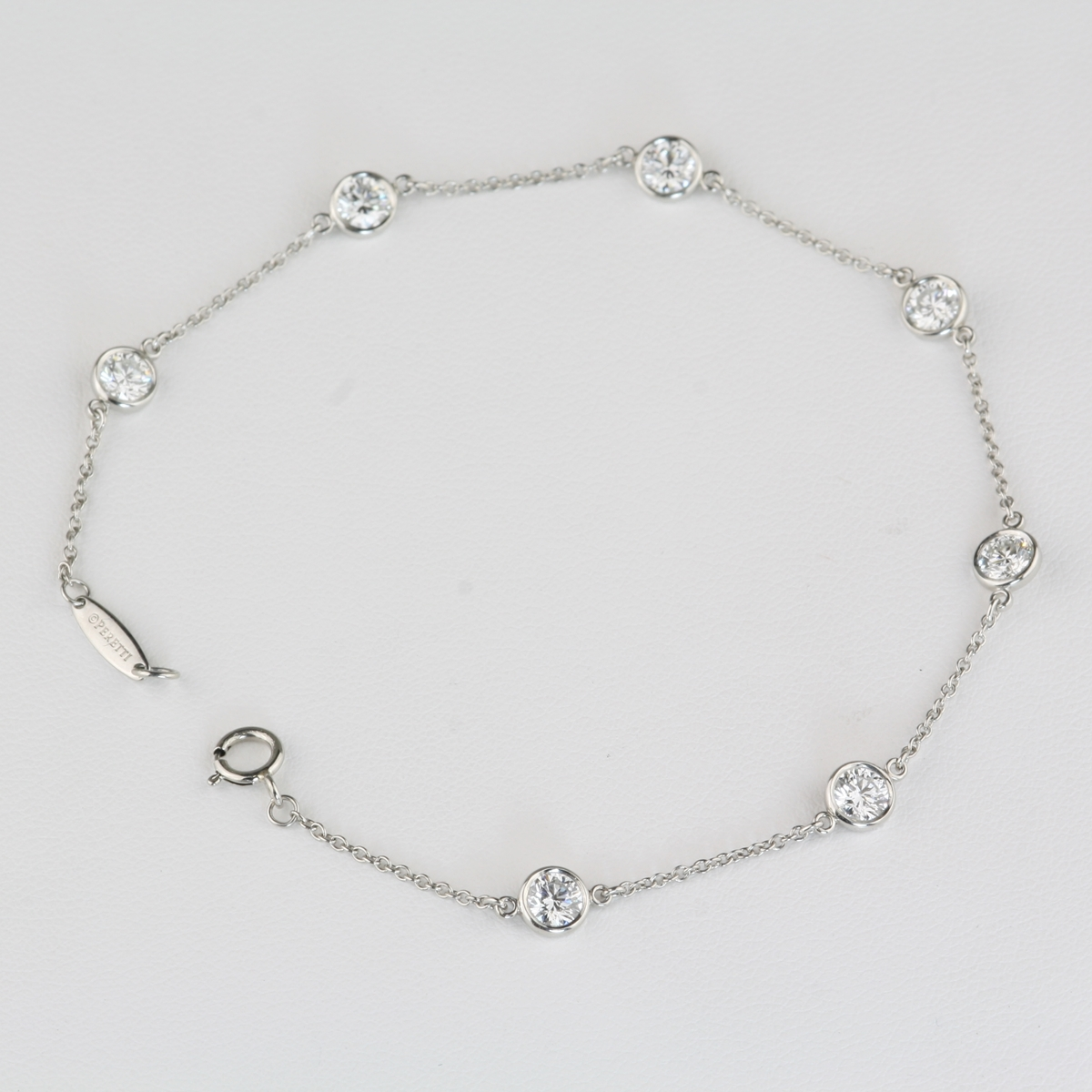 Pre Owned Tiffany Diamond And Platinum Bracelet