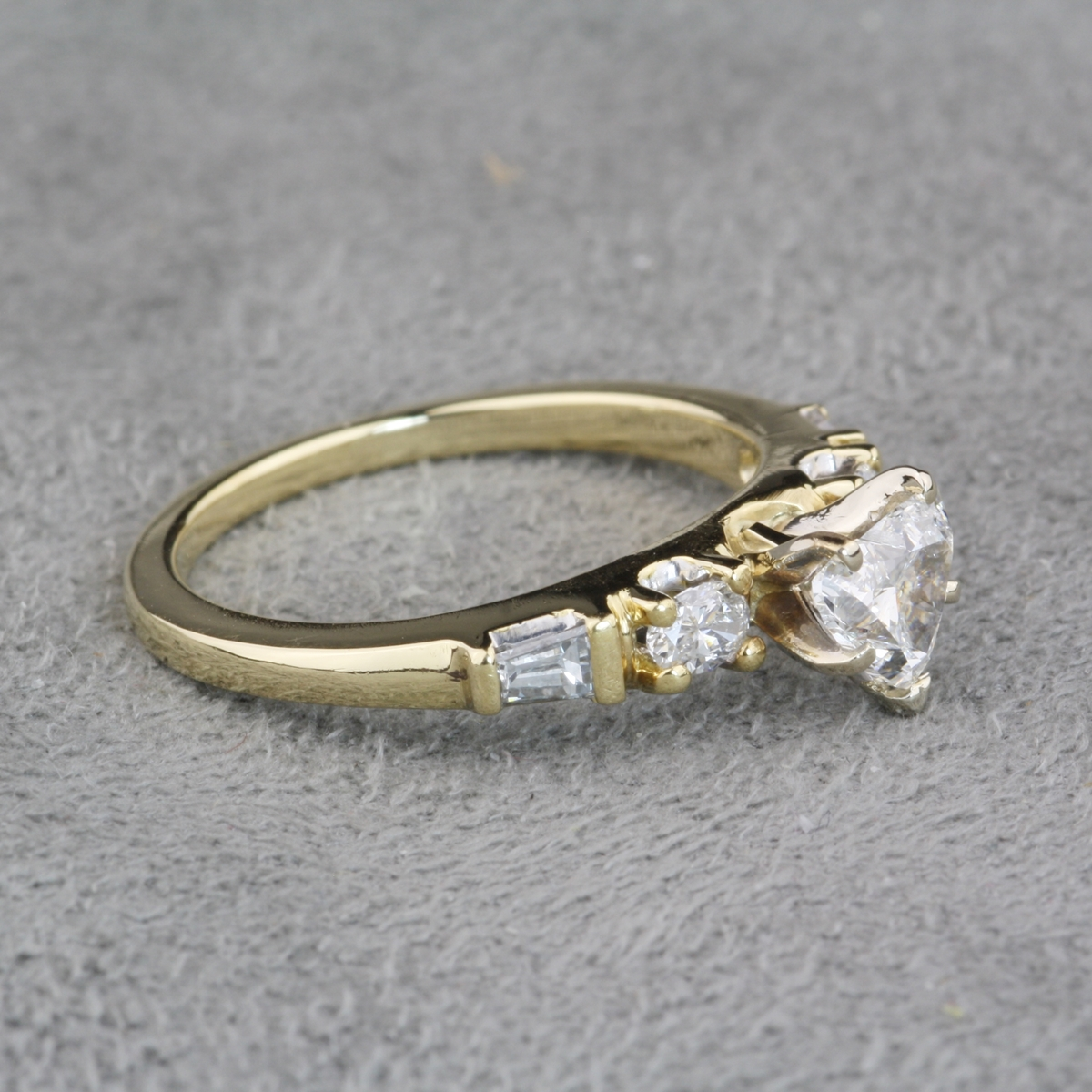 Pre Owned 18 Karat Yellow Gold Heart Shaped Owned 18 Karat Yellow Gold Heart Shaped Diamond Ring. Previously Owned Wedding Rings. Home Design Ideas