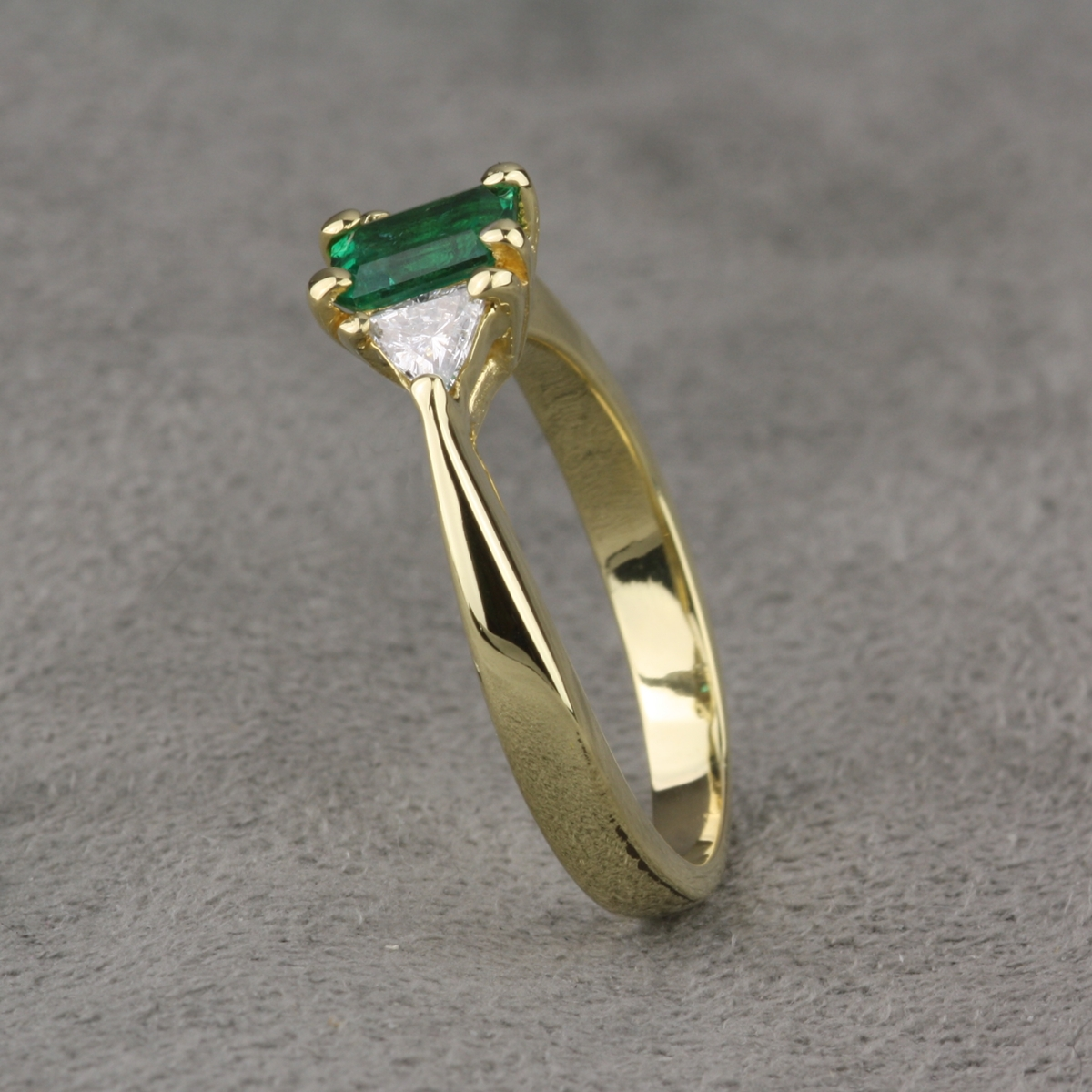 pre owned emerald and engagement ring