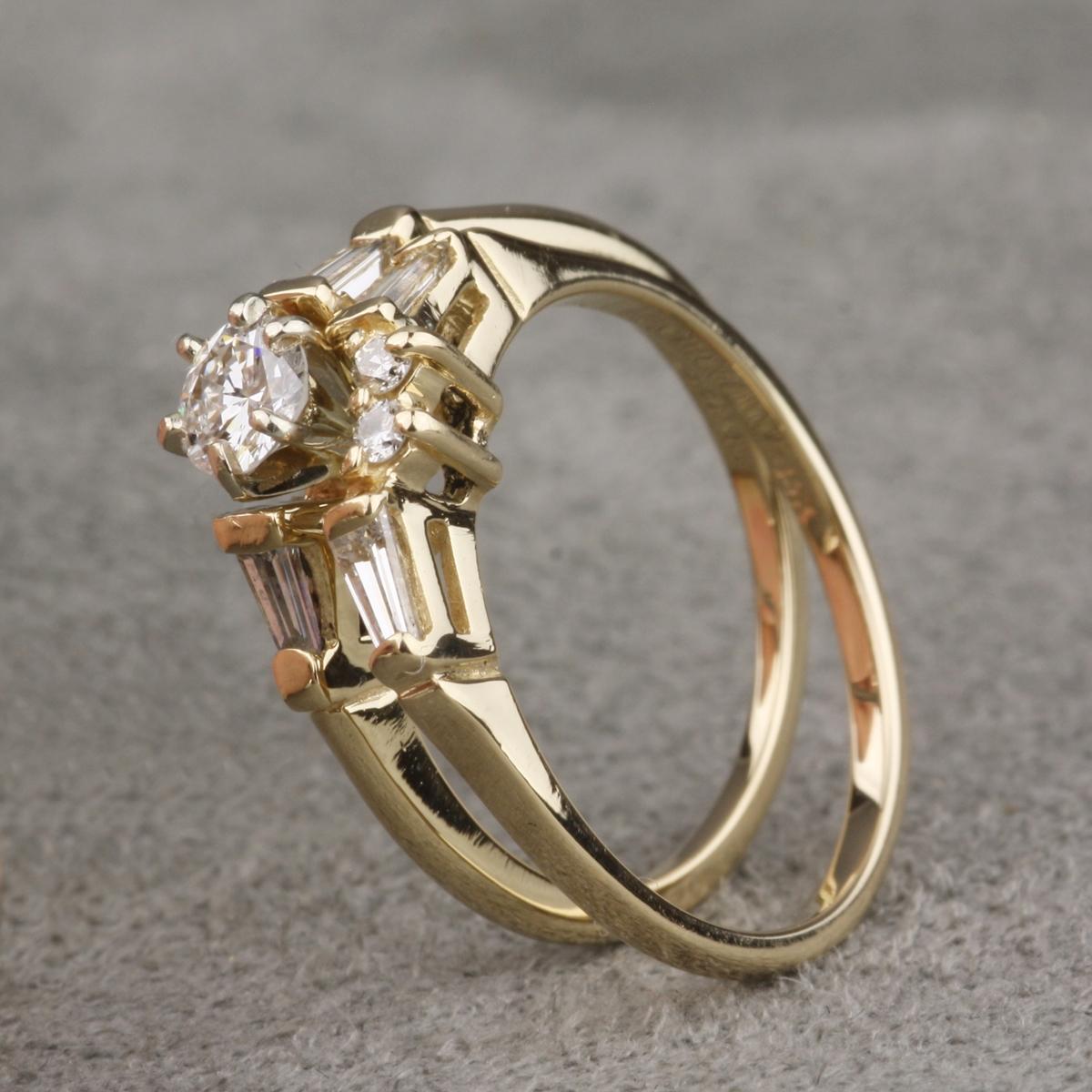 preowned diamond wedding set