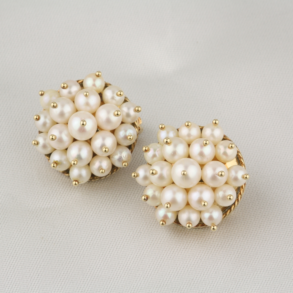 Vintage Cultured Pearl Earrings