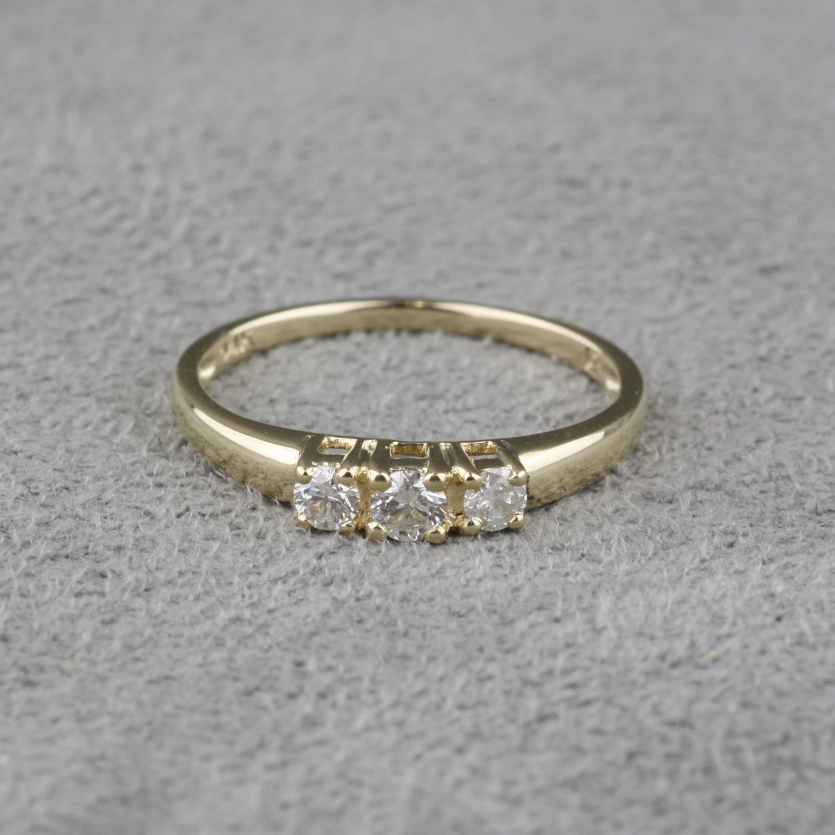 double ring diamond halo round stone engagement london by three two