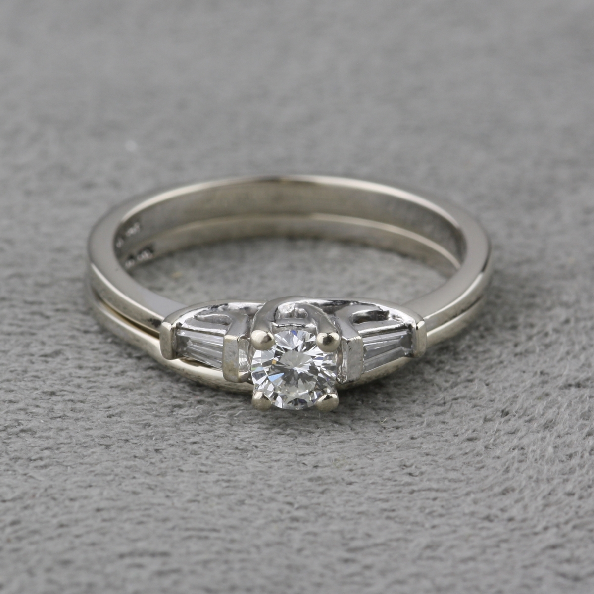 Pre Owned Diamond Engagement Ring Set