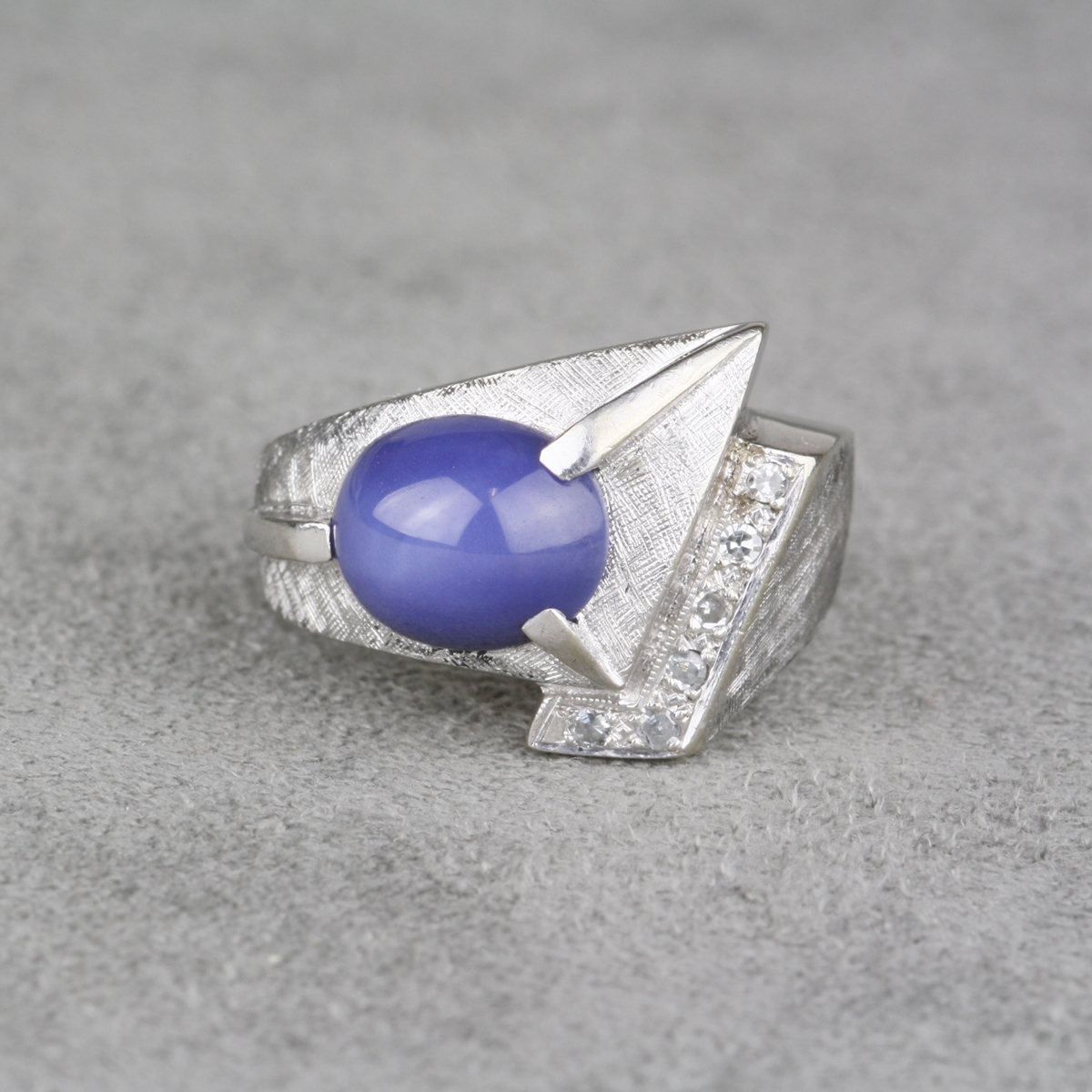 ring grey by il engagement sapphire gia eidelprecious ice oval white gold gray blue fullxfull listing