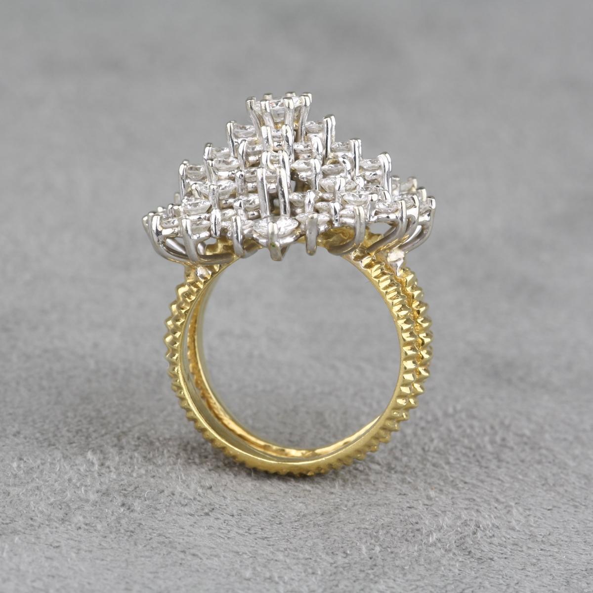 Pre Owned 3 13 Carat Diamond Dinner Ring