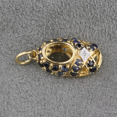 Pre-Owned-Sapphire-Diamond-Shoe-Charm