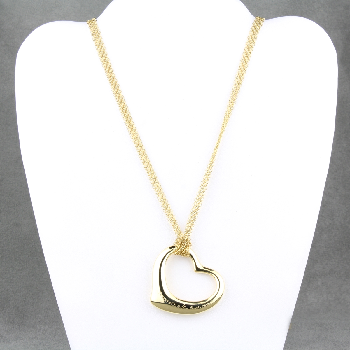 Pre owned tiffany heart pendant and mesh chain pre owned tiffany heart pendant aloadofball Images