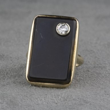 Vintage-14-Karat-Gold-Diamond-Black-Onyx-Ring