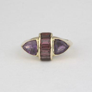 Pre-Owned-Rhodolite-Garnet-&-Amethyst-Ring