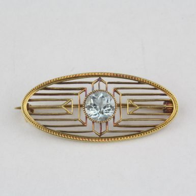 Antique-Aquamarine-Pin