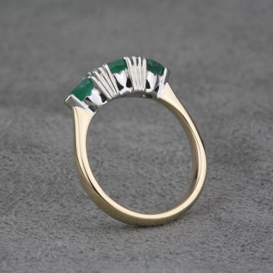 Pre-Owned-Emerald-and-Diamond-Ring