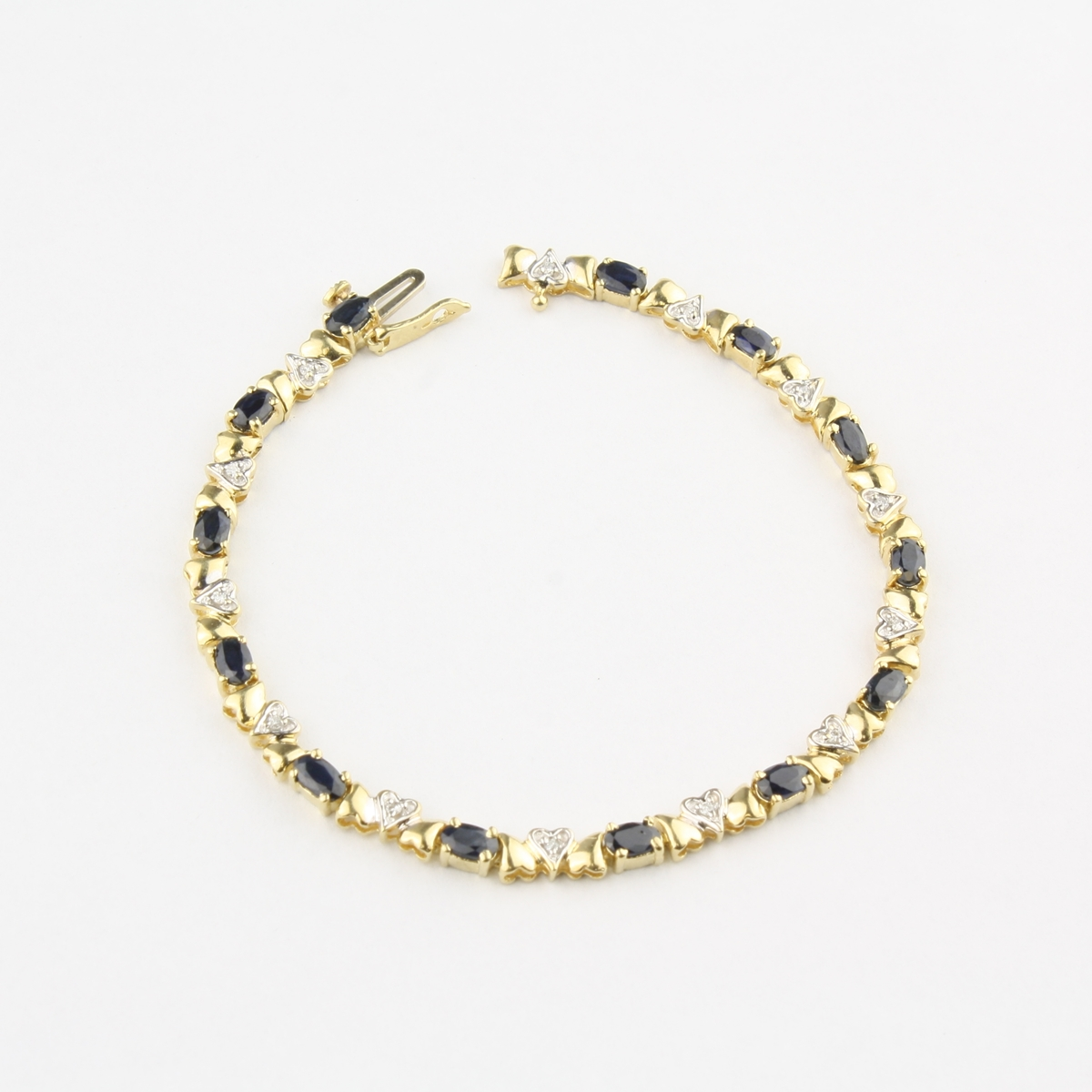 gold bracelet cocktail multi products quadrado color bracelets faldini mirella sapphire