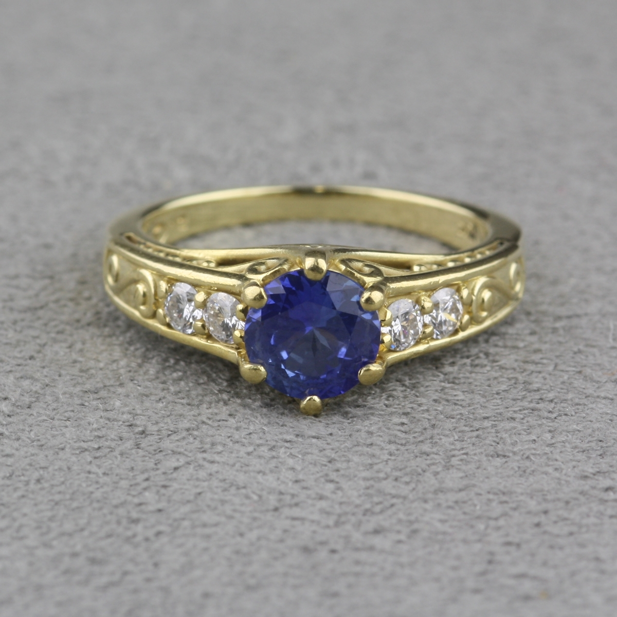 Pre Owned Brilliant Earth Sapphire And Diamond Ring