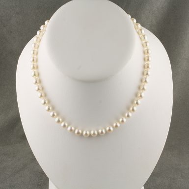 Pre-Owned-14-Karat-White-Gold-Akoya-Pearl-Strand