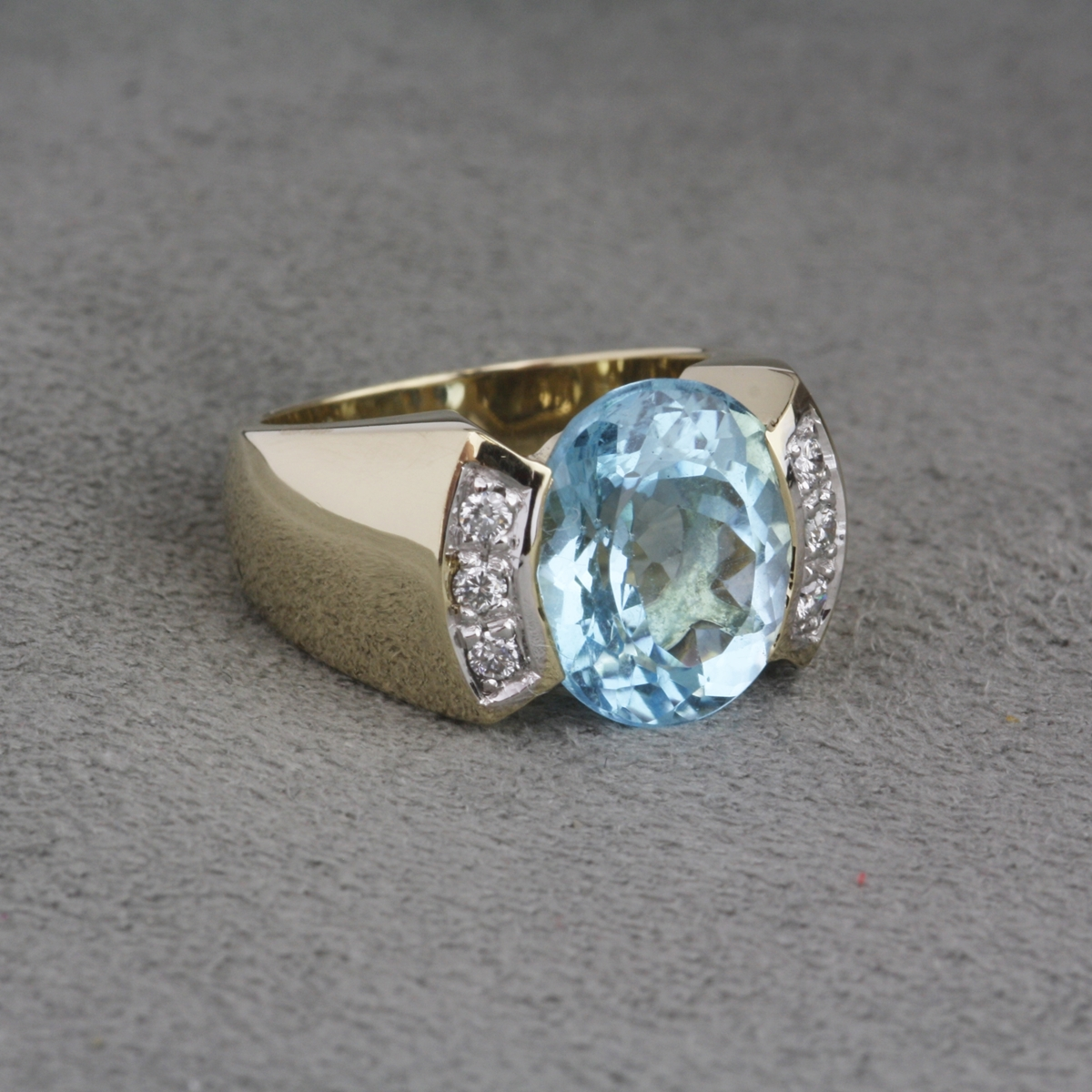 Topaz Yellow Silver Ring