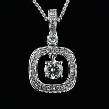 Pre-Owned-14-Karat-White-Gold-Diamond-Pendant