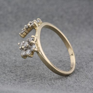 Pre-Owned-14-Karat-Yellow-Gold-Diamond-Wrap-Ring