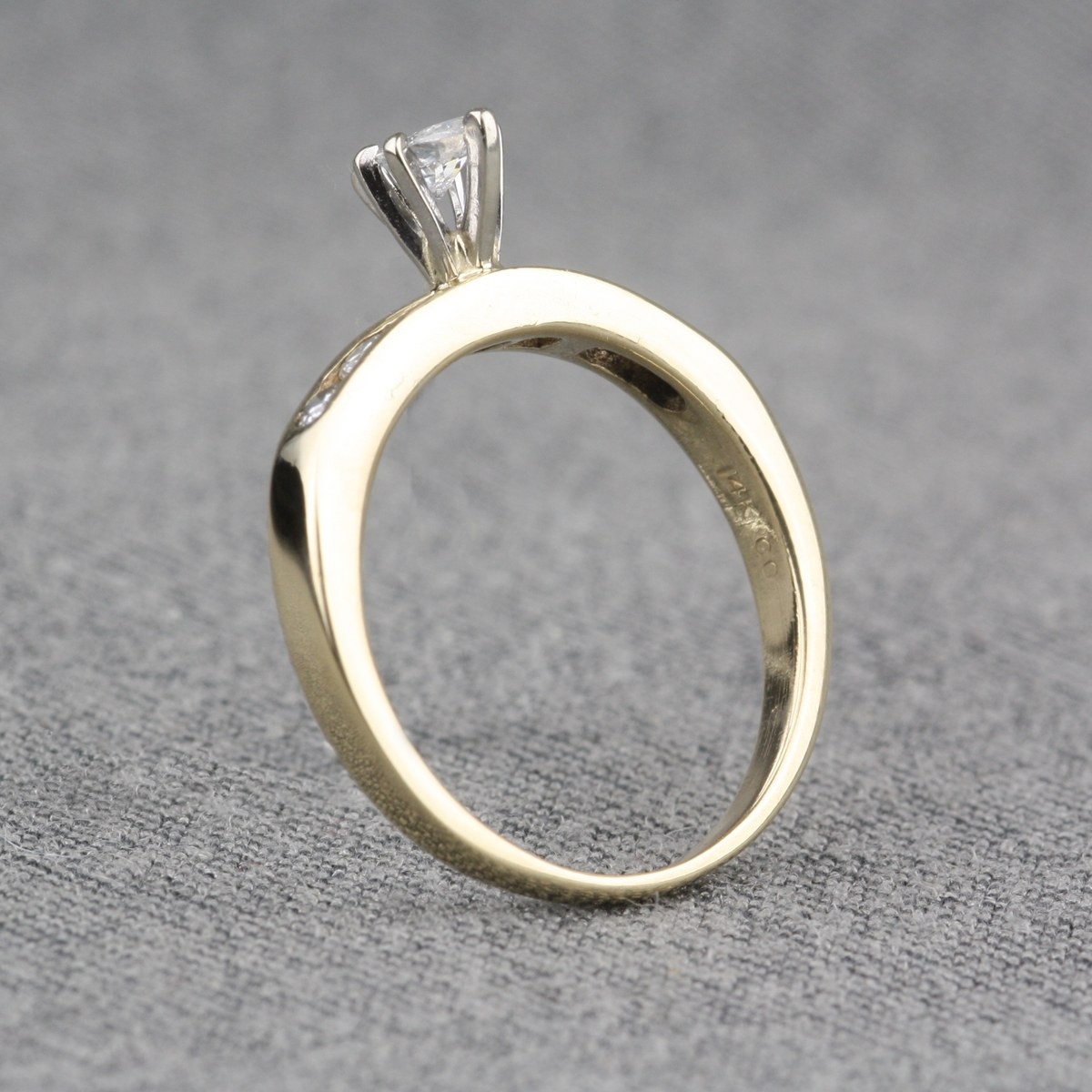Silver Diamond Cuff Ring