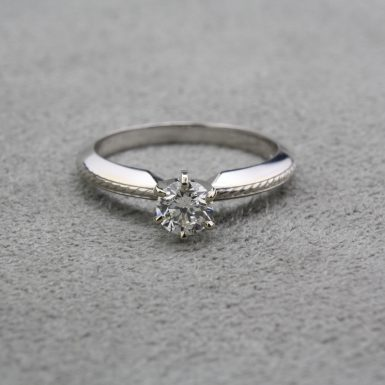 Pre-Owned Knife Edge Diamond Engagement Ring