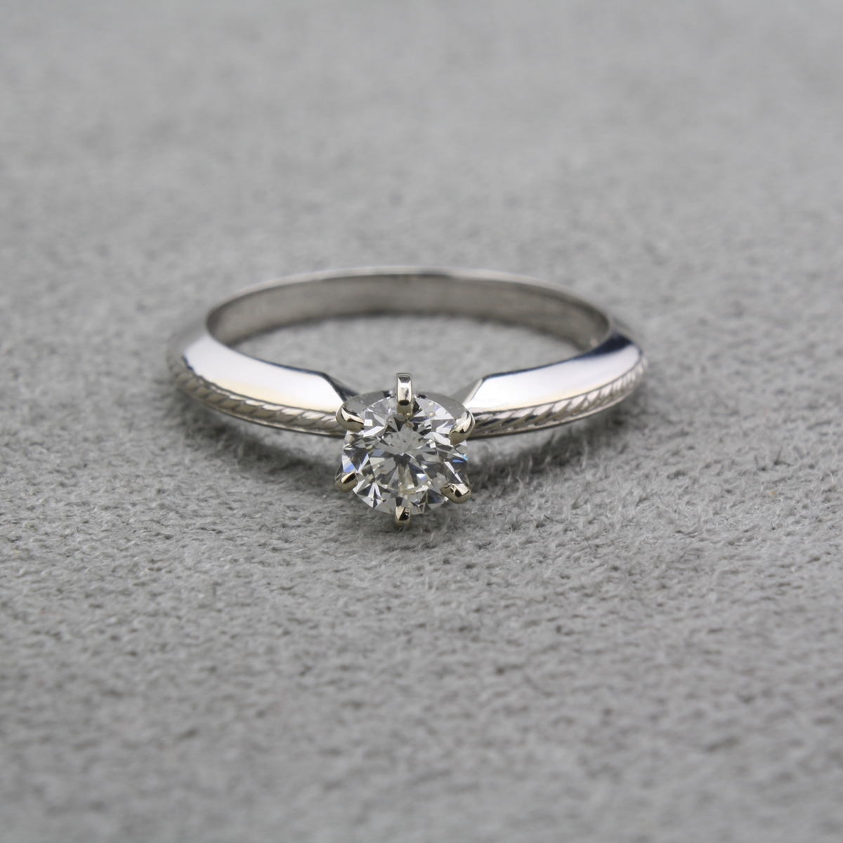 Pre-Owned Knife Edge Diamond Engagement Ring