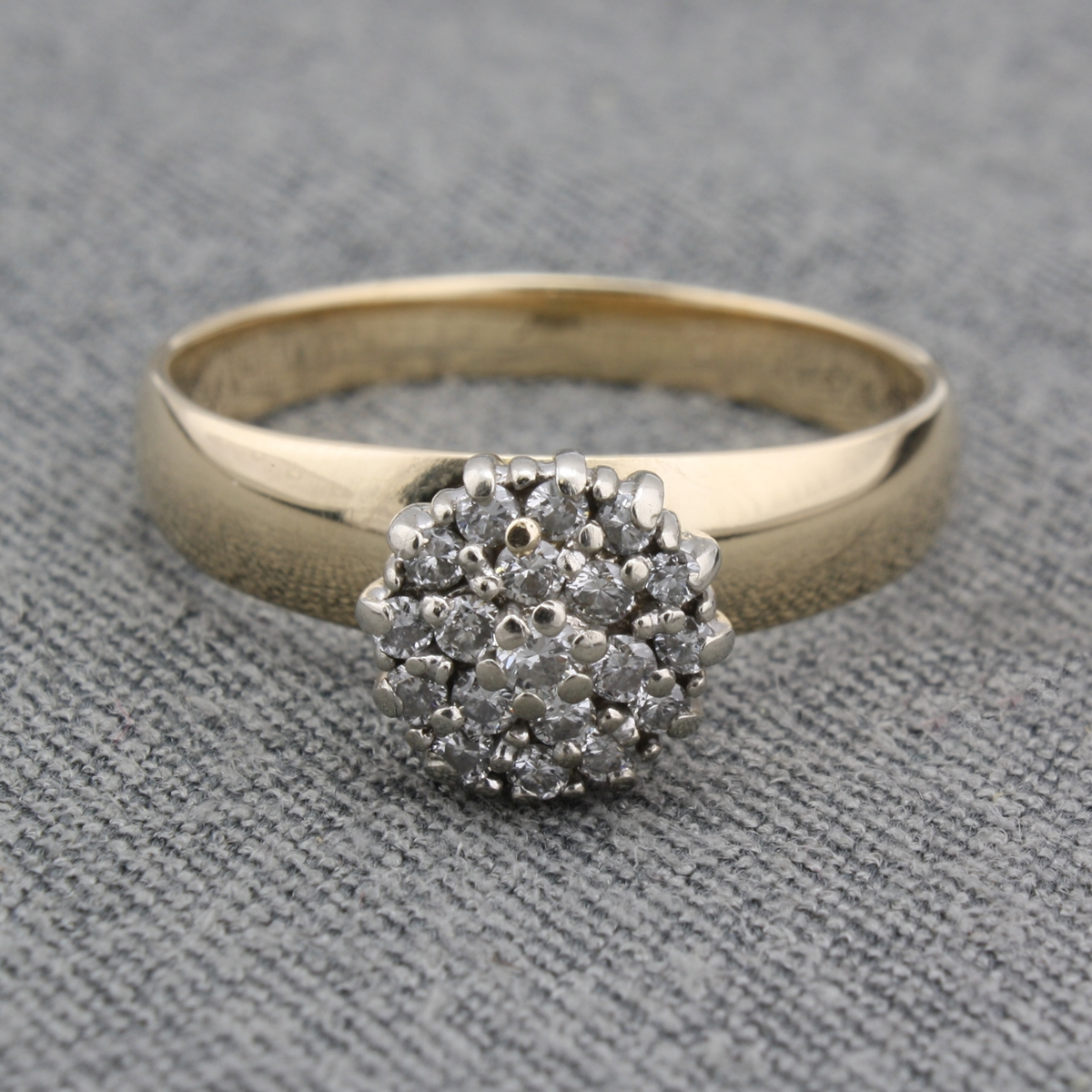 fetheray ring cluster products deco vintage art a diamond square precious pretty perfectly rings