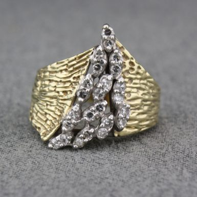 Pre-Owned 14 Karat Yellow Gold Diamond Cluster Ring