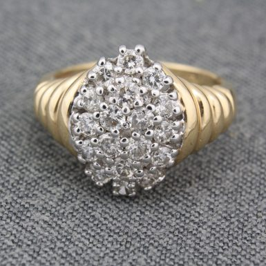 Pre-Owned 14 Karat Yellow Gold Diamond Cocktail Ring