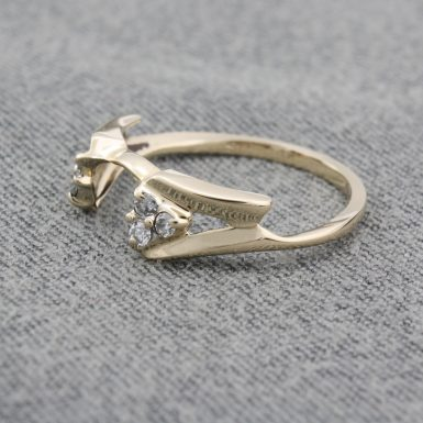 Pre-Owned 14 Karat Yellow Gold Diamond Wrap Ring